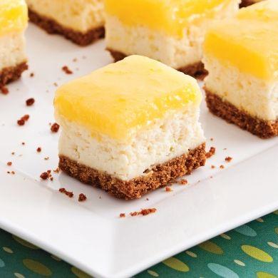 Carrés cheesecake au citron - Recettes - Cuisine et nutrition - Pratico Pratiques