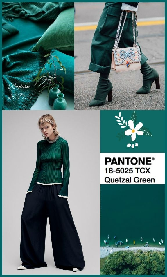 5c07094395c Pantone Fall  Winter 2018-2019 Colors Trends  Quetzal Green    by Reyhan  S.D..