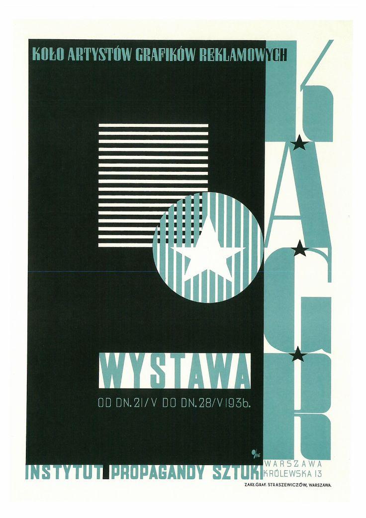 165. TADEUSZ GROHOWSKI (1894-1990) Kolo Artystów Grafików Reklamowych. KAGR. Wystawa. 1936 (Asociación de Artistas Gráficos. KAGR. Wystowo. 1936).
