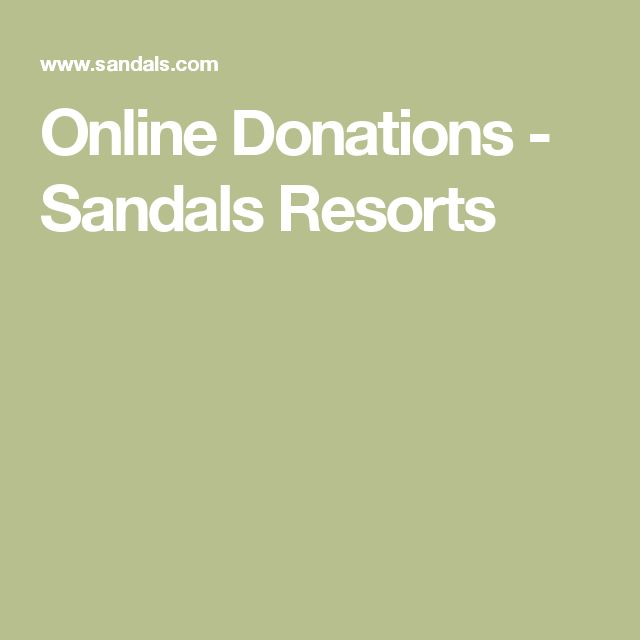 Online Donations - Sandals Resorts