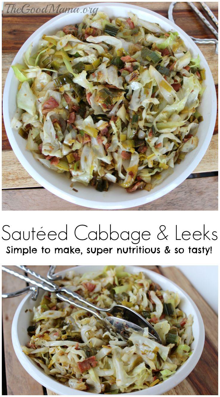 Sauteed Cabbage and Leeks Recipe