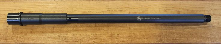 ".300 Blackout barrel 16"" length (for the option of unthreaded barrel)"
