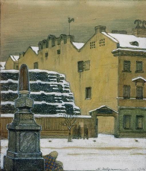 Winter in the City, 1904 - Мстислав Добужинский