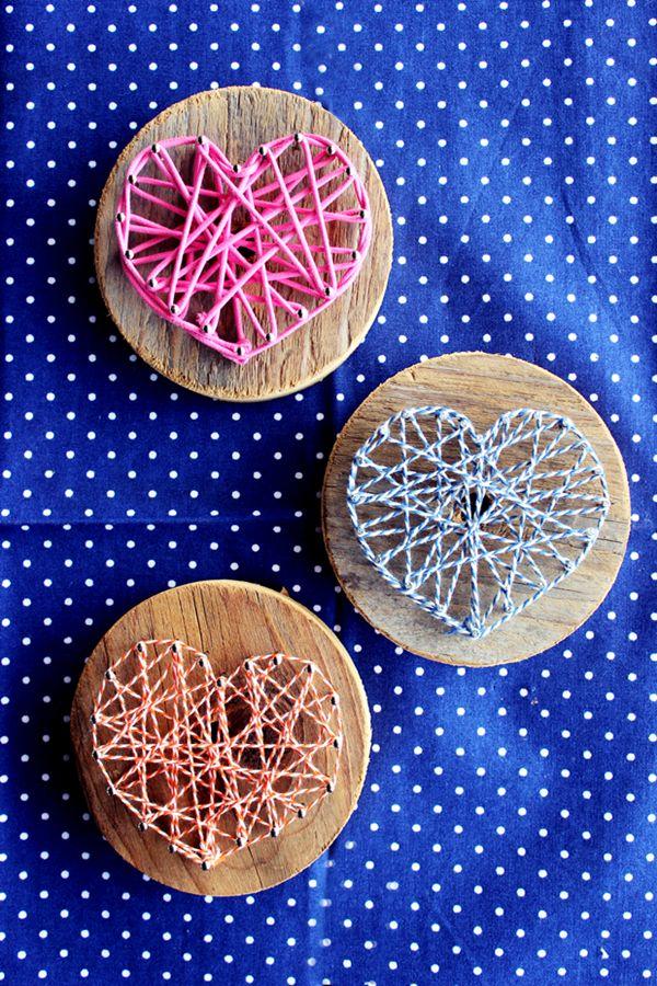 Muttertagsgeschenke DIY Holz Herz Nagel