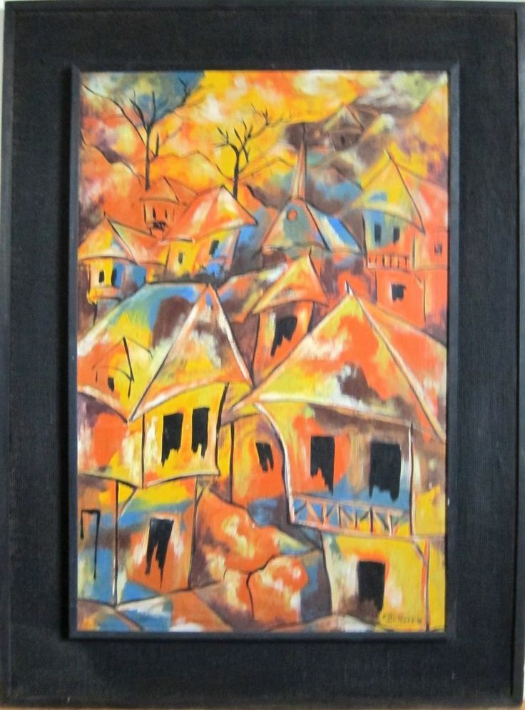 Original painting signed and framed by Haitian artist Paul ...