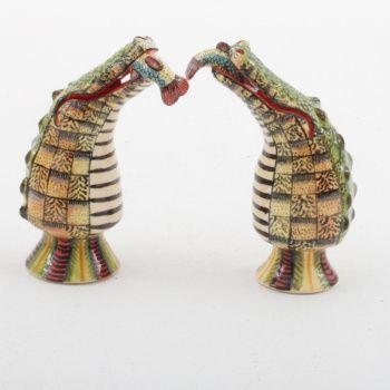 Ardmore Ceramics Crocodile Salt/ Pepper