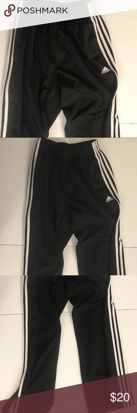 Adidas Superstar Classic Three Stripe Track Pants Adidas Superstar Classic Three Stripe Track Pants black and white vintage style size small. No stains or frays near perfect condition. Make an offer! adidas Pants Track Pants & Joggers