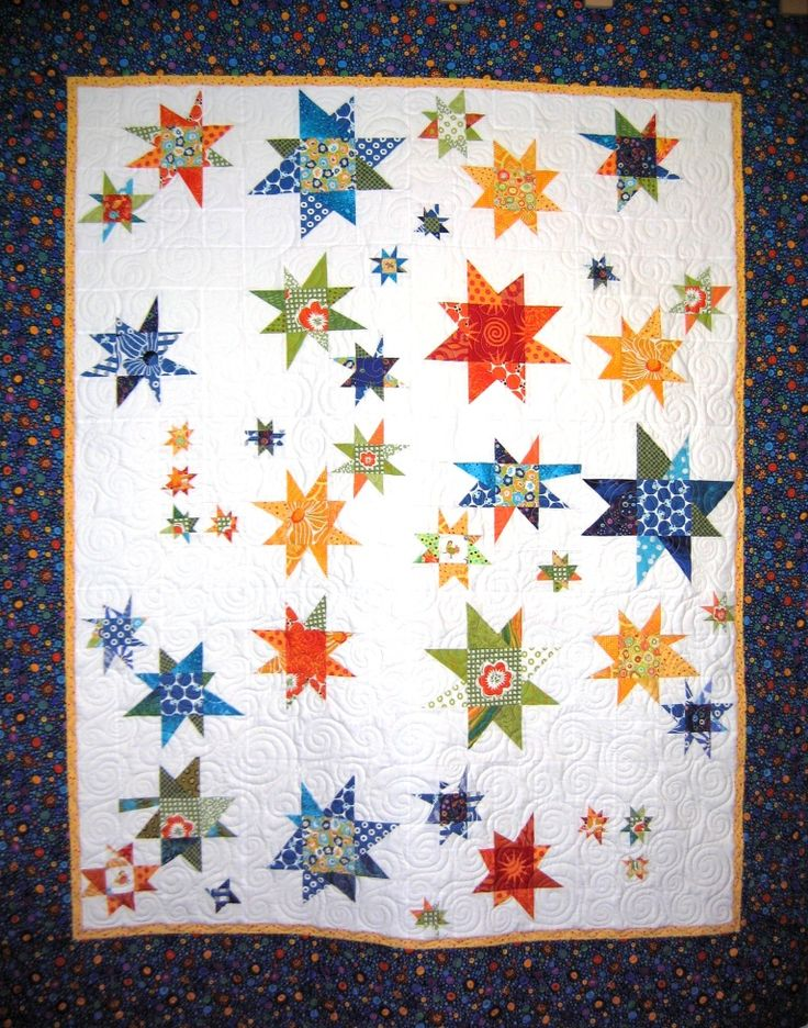 Wonky Star quilt made with Napa's Block Party Club blocks - this one is off to Fairbanks with niece Ariana!
