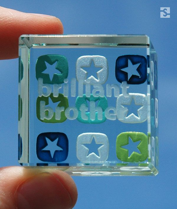 """""""Brilliant Brother"""" text token, gift ideas for friends and family, Spaceform collection."""