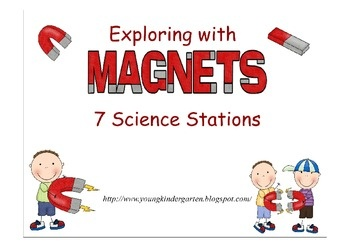 $3 Magnet Science Stations for Little Ones. Printable signs/instructions for 7 magnet science stations to help little ones explore