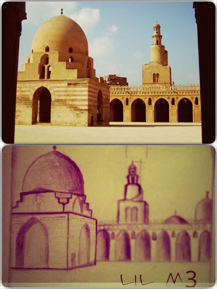 ebn tulon mosque   first sketch for me