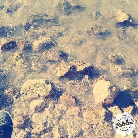 Rocks in the sea, like little islands