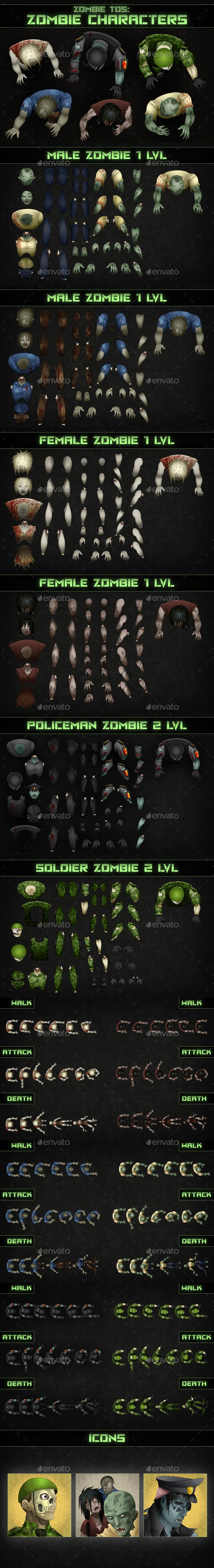 #Top-Down Shooter: Zombie - Sprites #Game #Assets