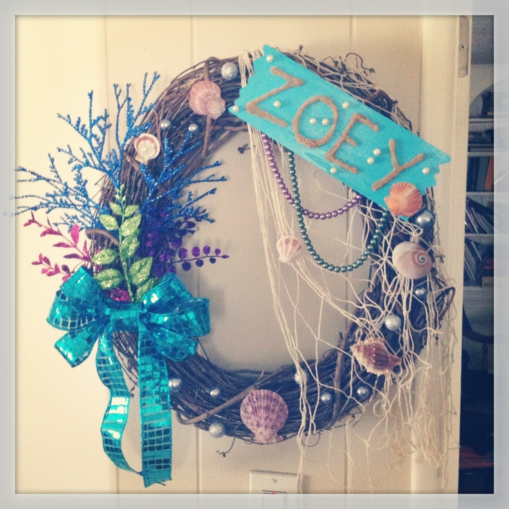Mermaid Wreath Things I Ve Made Pinterest Mermaids