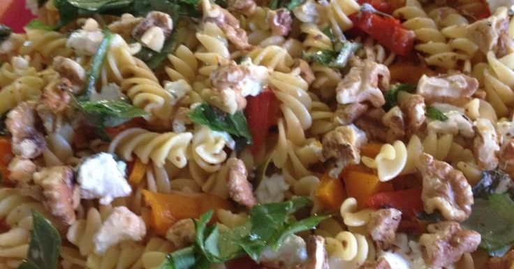 Cheats Capsicum, Feta and Walnut Pasta Salad