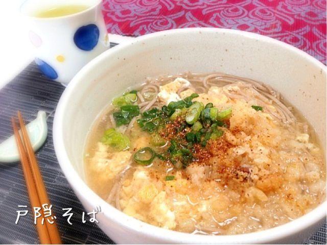 いただき物の戸隠そばで朝食♪( ´θ`)ノ - 101件のもぐもぐ - 戸隠そばdeとじそば朝食 by yurie616