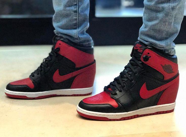 "http://SneakersCartel.com Michael Jordan's Wife Debuts 1-of-1 Air Jordan Wedge ""Banned"" #sneakers #shoes #kicks #jordan #lebron #nba #nike #adidas #reebok #airjordan #sneakerhead #fashion #sneakerscartel"
