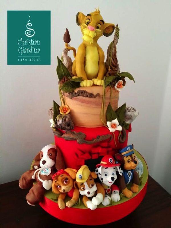 Adorable Lion King Meets PAW Patrol Cake