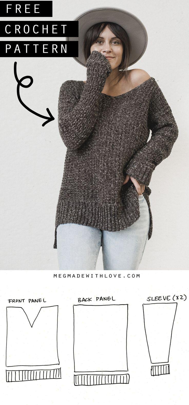 The Home Girl Sweater – Crochet Sweater Pattern