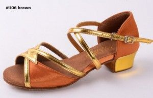 latin dance shoes professional #106 brown