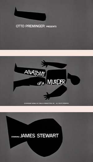 Anatomy of a Murder Title Sequence via Saul Bass, 1959