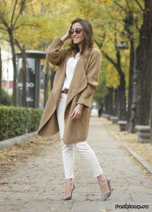 Осенний уличный стиль: уютные вязаные вещи и прочий теплый трикотаж
