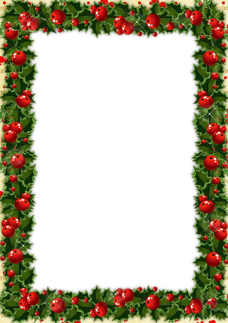 transparent christmas photo frame with mistletoe