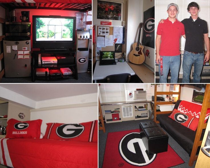 A Clean And Simple Georgia Theme Was Enough For This 2012 Creswell Hall  Finalist To Take. Guy Dorm RoomsCollege ... Part 7