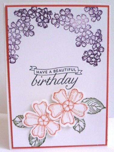 Stampin' Up! Birthday Blossoms https://astampingjourney.wordpress.com/2015/06/22/watercolor-wishes-stamp-a-stack-by-mail/