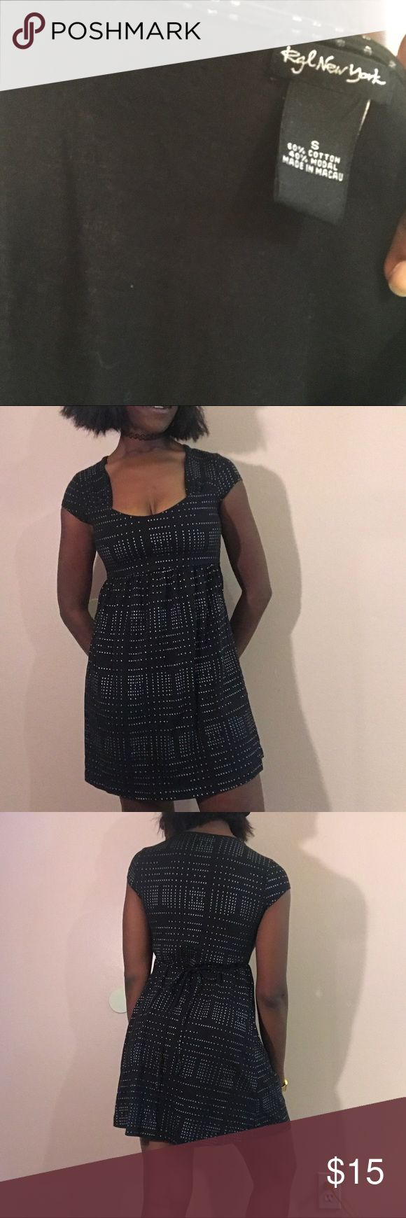 Lack and silver mini dress flare small I don't know why, but this dress reminds me of Star Wars. ✨✨✨ cute mini dress that ties in the back! Black and silver size small!!! Get her today!! DM TO PURCHASE!!  #womenswear #womensfashion #womensclothing #womensdress #dress #minidress #flare #silver #starwars #stars #lightspeed #forsale #depop #poshmark #ebay #vinted #thrift #seller #luxury #expensive #smallbusiness #blackowned Dresses Mini