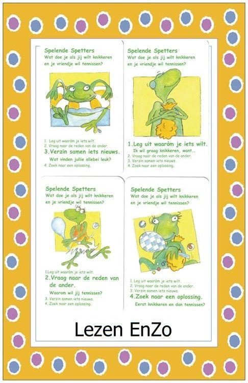 Coole kikker > kwartet uitgewerkt voor Lezen EnZo Spelende spetters.