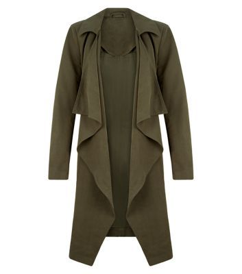 Anita and Green Khaki Lightweight Trench Coat New Look