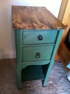 Add fresh wood and stain for a fresh new surface...not crazy about this top, but good idea.