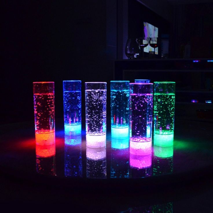 LED Flash Light Glowing Juice Glass For Christmas / Halloween Party