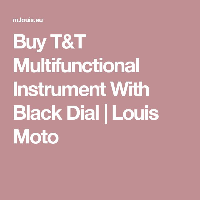 Buy T&T Multifunctional Instrument With Black Dial | Louis Moto