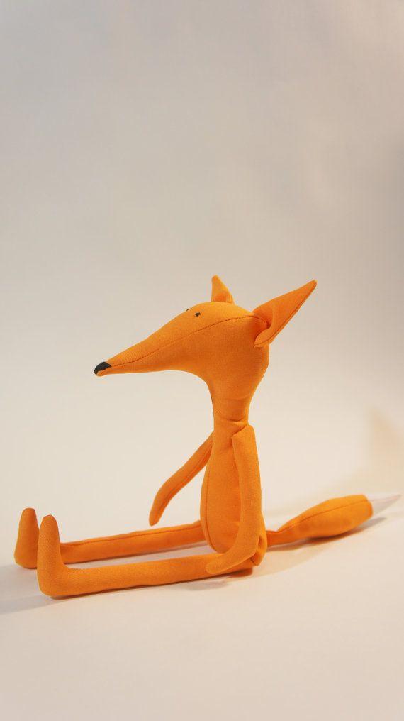 Orange FOX Animal toy Stuffed toy, interior doll. Happy birthday gift