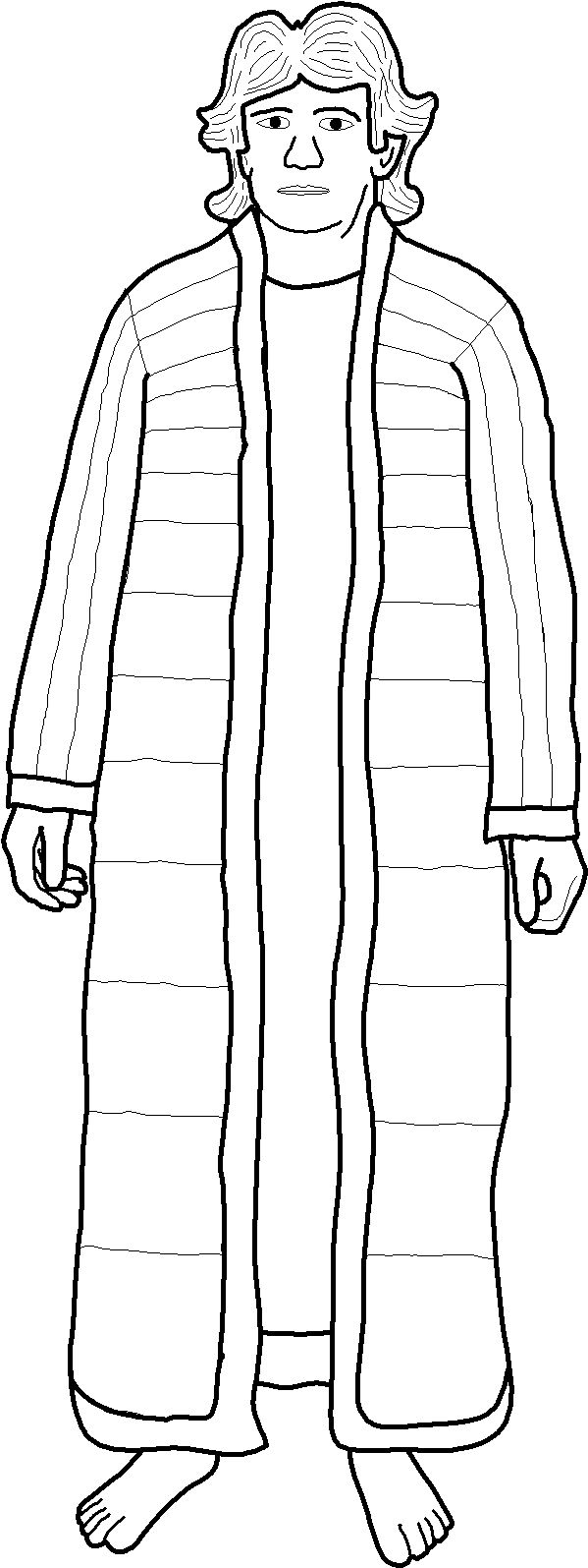 Free coloring pages joseph coat many colors - Joseph Sold To Slavery Lesson And Activities At Http Www Sundayschoolresources