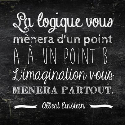 La logique vous mènera d'un point A à un point B, l'imagination vous mènera partout - Albert Einstein #citation #Einstein