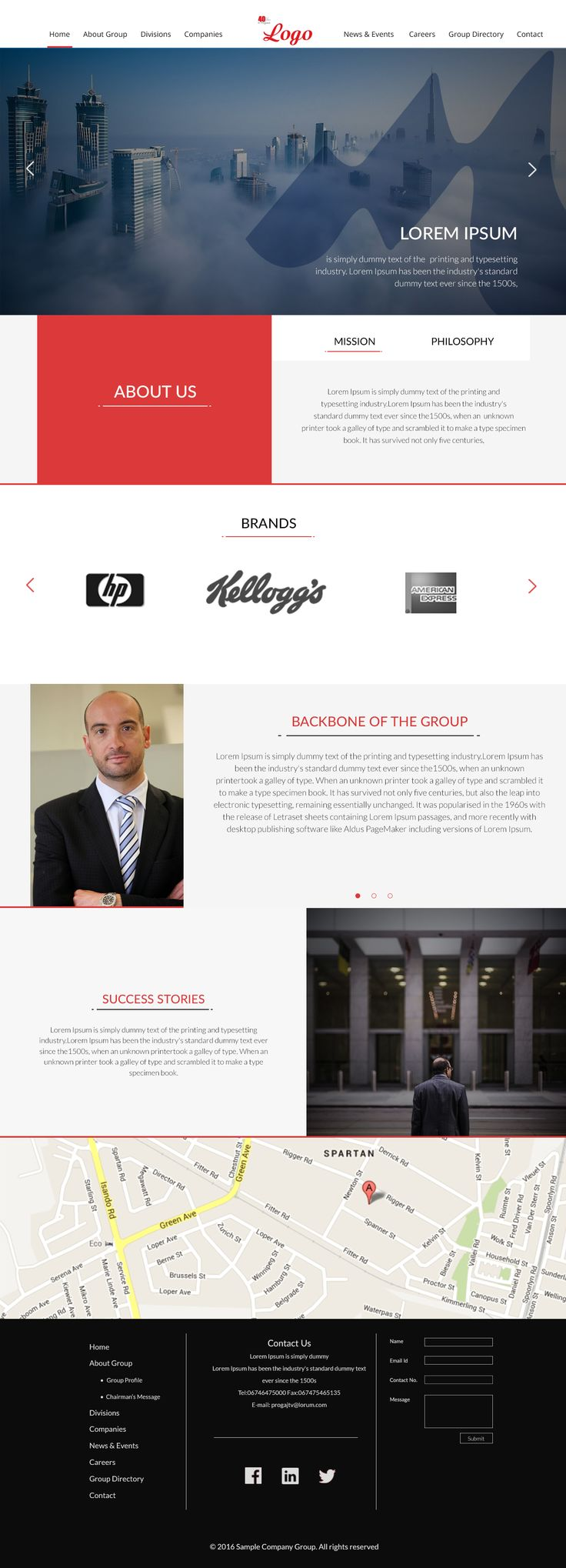 Website Template for a Corporate Company.