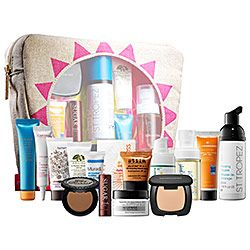 I wait for the Sun Safety Kit EVERY YEAR to stock up on travel-size sunscreen and bronzer! It's only $32, but valued at $177! #sephora