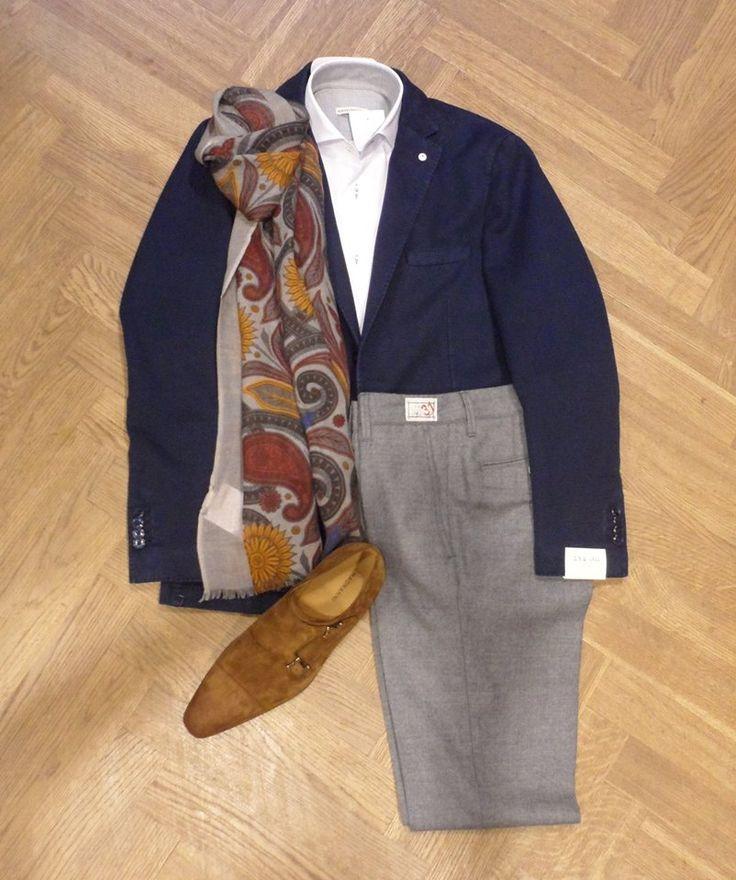 Set van de dag: Prachtig Italiaans kleding set!  Het colbert is van Lubiam, het witte overhemd en de broek zijn van Artu Napoli en de schoenen van Magnanni.