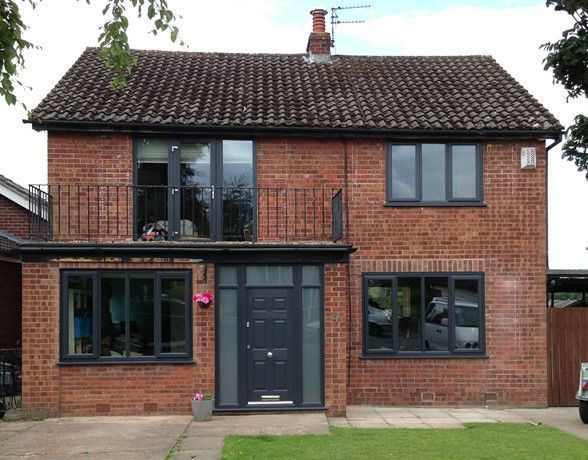 Anthracite Grey 5 uPVC Windows & 2 Composite Doors Supplied & Fitted Only £2895