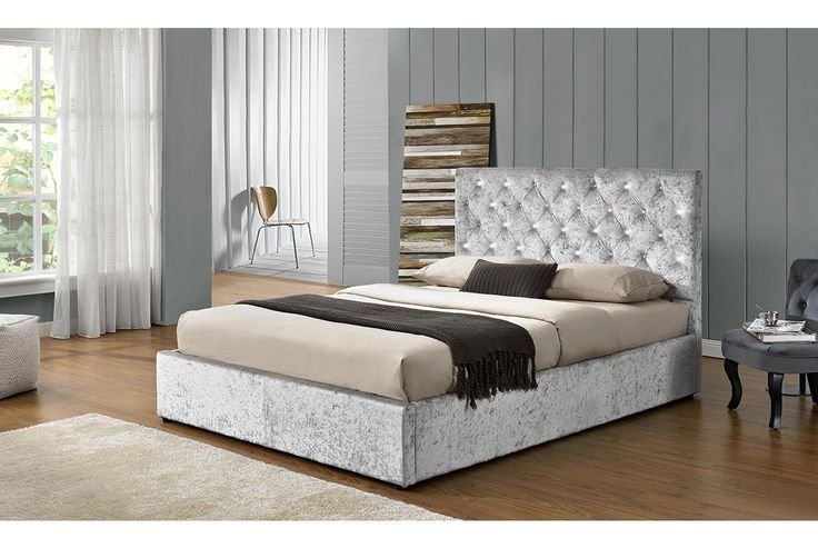 Fabric Ottoman Storage Bed Frame Groupon
