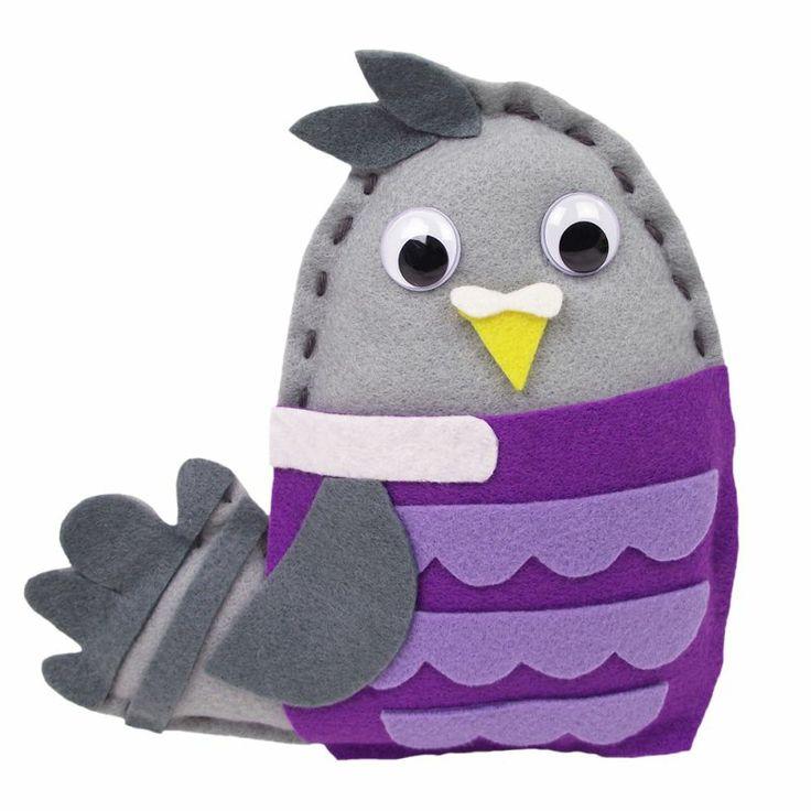 Make-Your-Own Wood Pigeon Felt Friend | Hobbycraft