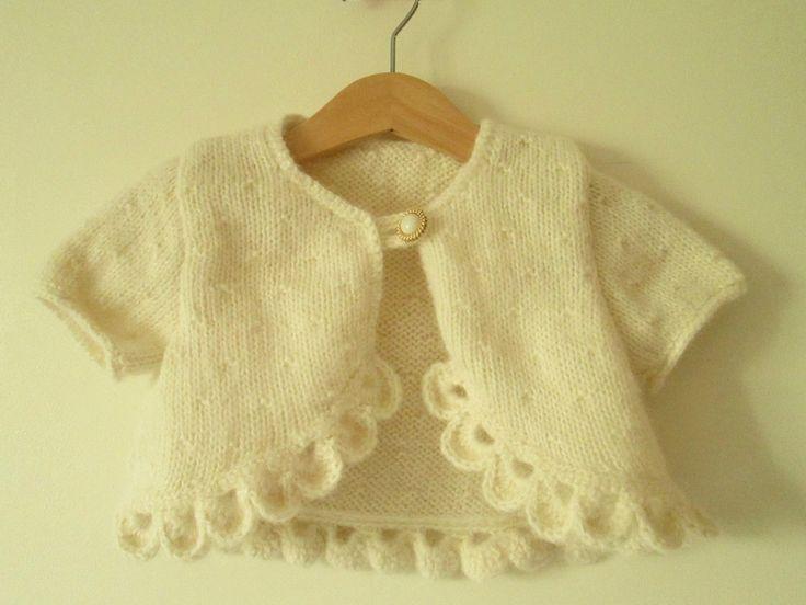 Petit boléro en laine (modèle Bergère de France) pour l'Opération destockage