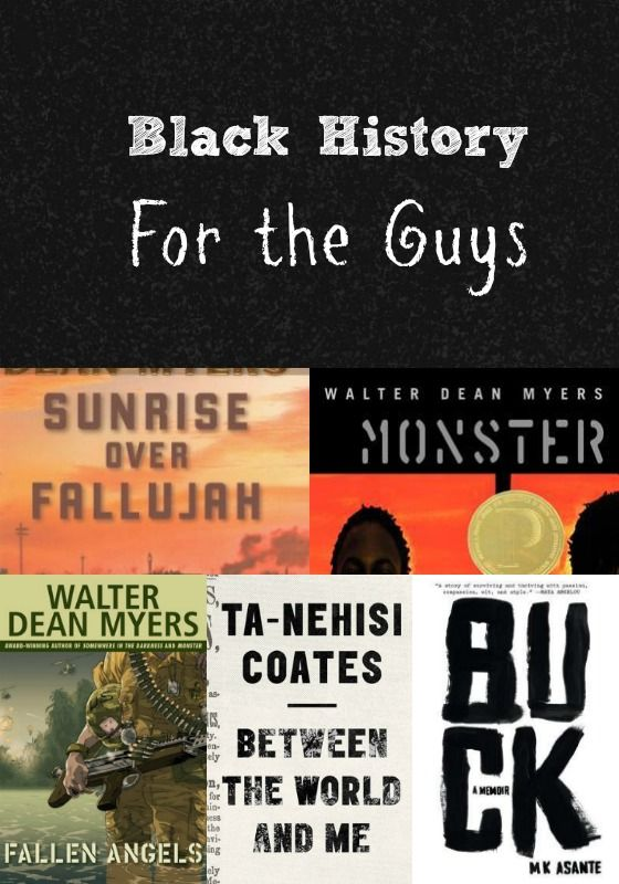 Let's celebrate Black History Month with YA books for the Fellas  Books for the Guys include: Walter Dean Myers: Fallen Angels, Monster, & Sunrise Ove