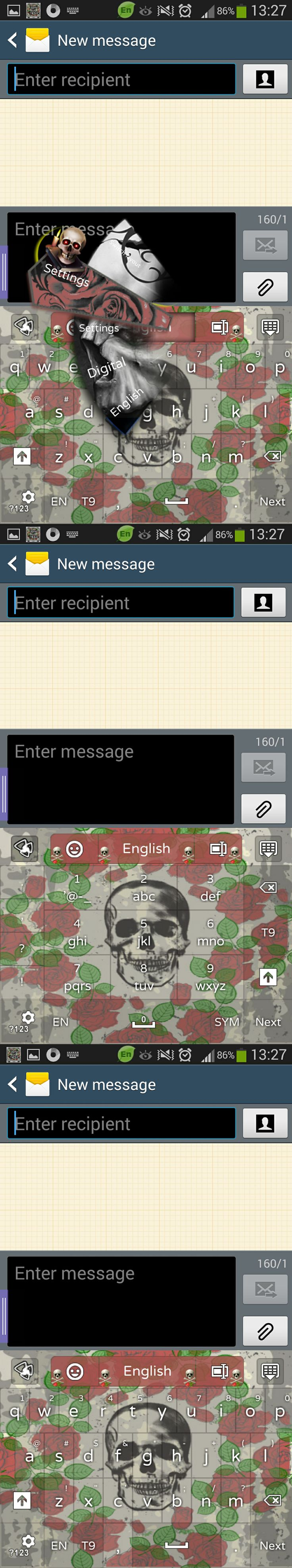 Google theme rose - Rose Skull Go Keyboard Theme Search Themejunky On Google Play To Discover