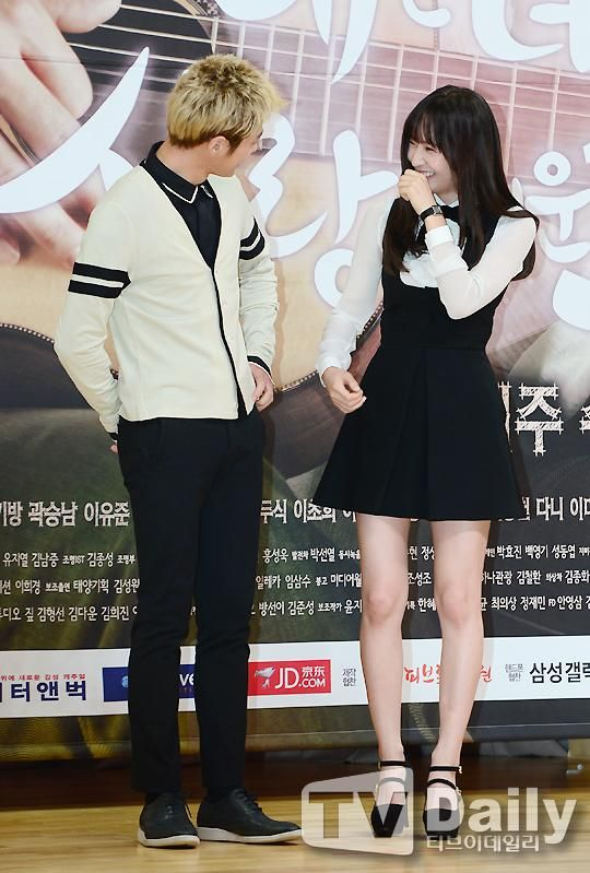 [NEWS PIC] 140915 My Lovely Girl Presscon - Myungsoo and Krystal #2 (cr:TVDaily) pic.twitter.com/sp2GnbrGzB