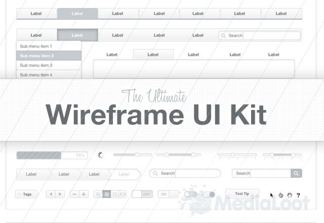 wireframe web kit