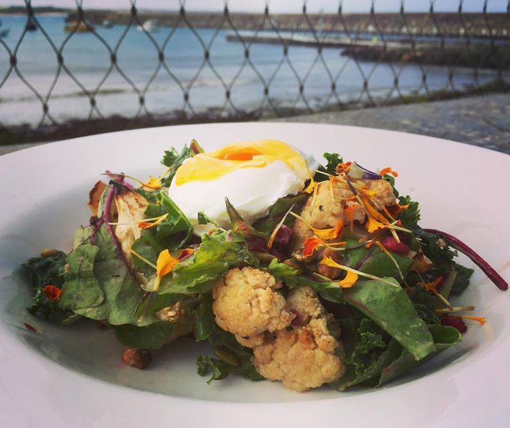#Repost @pavilioncafebar  Today we are loving our Autumn Breakfast Salad  with roasted cauliflower pomegranate pistachios pepitas mixed leaves tossed in a green tahini dressing and topped with a poached egg...delicious!! Gluten&Dairy Free! #healthy #fresh #glutenfree #dairyfree #breakfast #warrnambool #eat3280 #love3280 #greatoceanroad #warrnamboolbreakwater @destinationwarrnambool by destinationwarrnambool